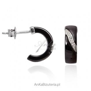 Kolczyki srebrne Biżuteria najwyższej jakości z ceramiki