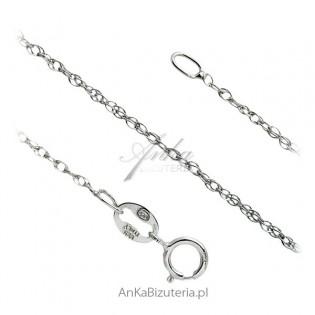 Łańcuszek srebrny rodowany włoski Loose Rope