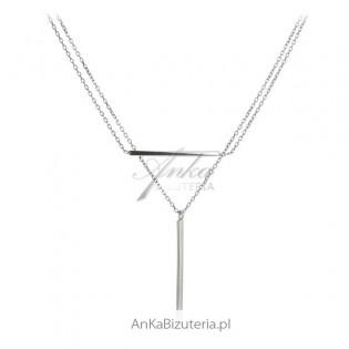 Naszyjnik srebrny -Biżuteria włoska