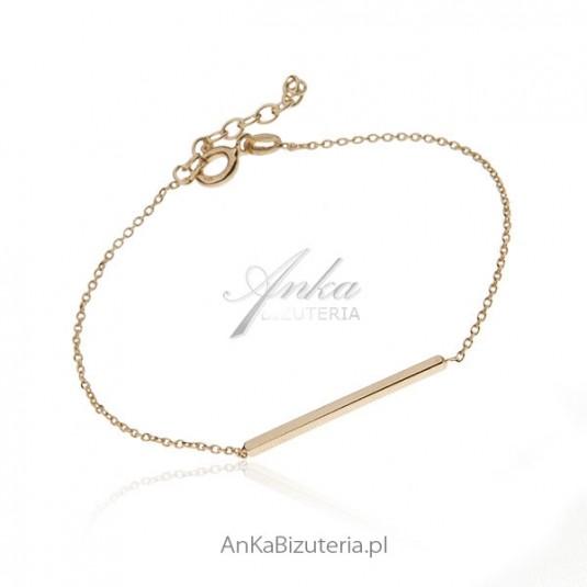 Srebrna pozłacana bransoletka - subtelna biżuteria dla kobiet