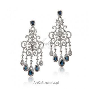 Kolczyki srebrne Śnieżynki - Piękna biżuteria Lineargent Hiszpania