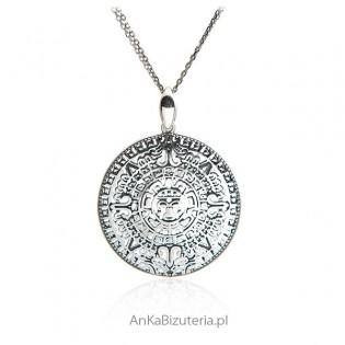 Wisiorek srebrny - Kalendarz Majów