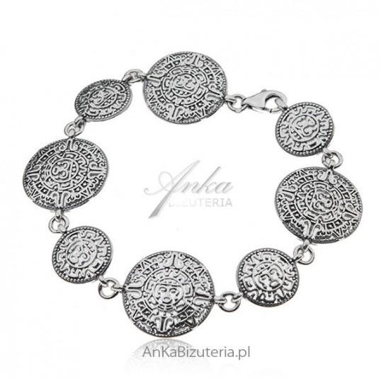 Bransoletka srebrna - Kalendarz atlantów