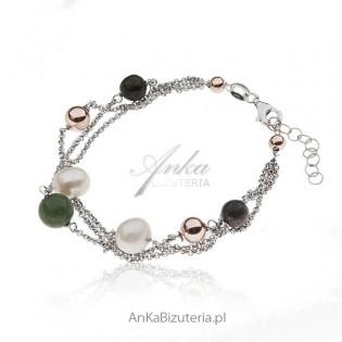 Bransoletka srebrna - Kolory jesieni