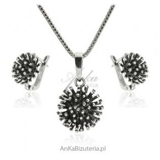 Komplet biżuteria srebrna oksydowana Biżuteria w sklepie AnKa