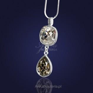 Naszyjnik srebrny z kryształami SWAROVSKI