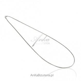 Łańcuszek srebrny żmijka osydowany i rodowany 50 cm