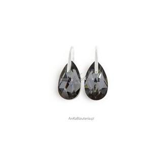 Kolczyki srebrne -Blask i elegancja- z krystształem swarovski -Silver Night