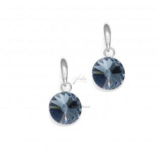 Naszyjnik srebrny z kryształem Swarovski Denim Blue -Candy.