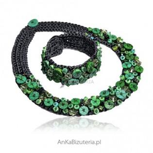 Naszyjnik i bransoletka - biżuteria autorska , robiona ręcznie.