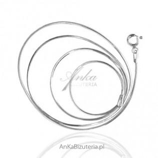 Srebrny Łańcuszek żmijka od AnKa Biżuteria