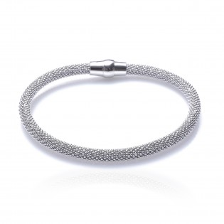 Bransoletka srebrna rodowana Biżuteria włoska Piękna