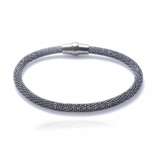 Bransoletka srebrna oksydowana Biżuteria włoska Piękna!
