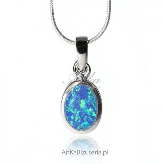 Biżuteria Wisiorek srebrny z opalem