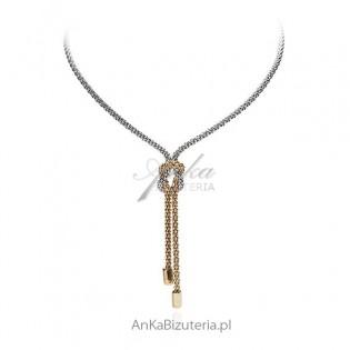 Naszyjnik srebrny krawat - Włoska biżuteria