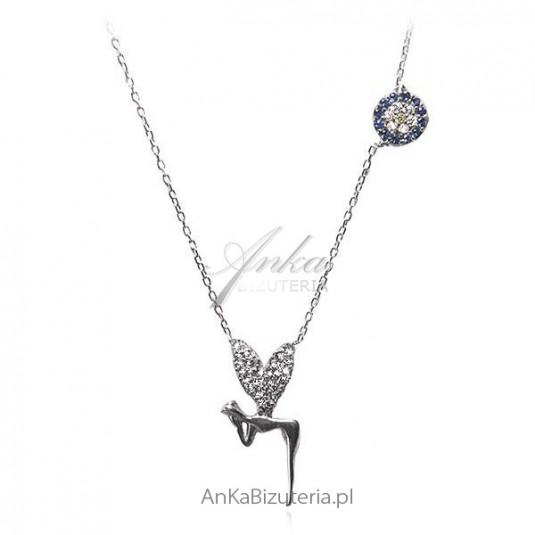 Naszyjnik srebrny Elf Piękna biżuteria