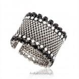 Modna biżuteria -szeroka elegancka bransoleta