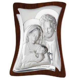 Dewocjonalia Srebrny obrazek Świętej Rodziny 9x11cm GRAWER