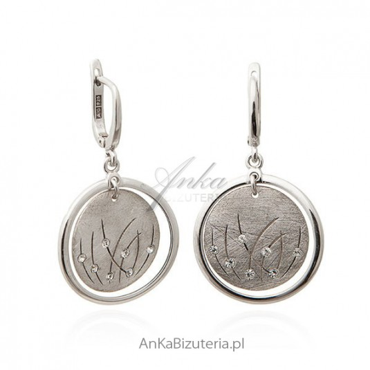 Kolczyki srebrne - Wiosenna biżuteria