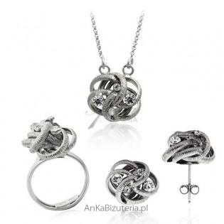 Elegancki komplet biżuterii