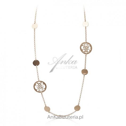 Naszyjnik srebrny pozłacany -w orientalnym stylu