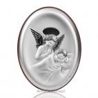 Aniołek modlący się nad śpiącym dzieciątkiem-Pamiątka dla dziecka. GRAWER