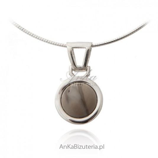 Wisiorek srebrny z krzemieniem pasiastym