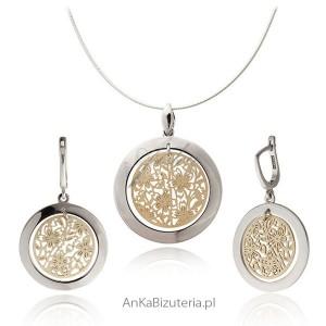 srebrny komlet biżuterii