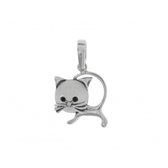 Srebrna zawieszka Kot Biżuteria srebrna