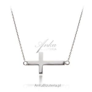 łańcuszek srebrny z krzyżykiem