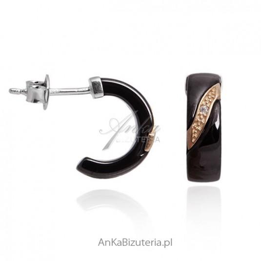 434e15ea85ddd9 Biżuteria dla kobiet Apart biżuteria ceramiczna Kolczyki czarne złoto