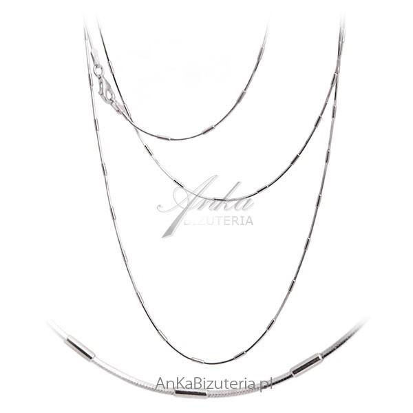 Łańcuszki srebrne