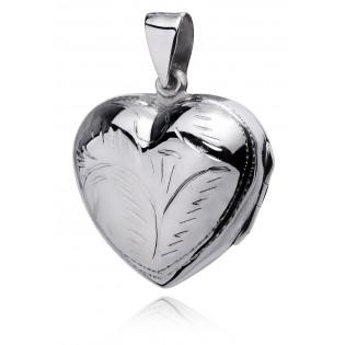 Wisiorek srebrny Puzderko serce Biżuteria na Prezent