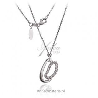 Naszyjnik srebrny rodowany Oryginalna biżuteria srebrna