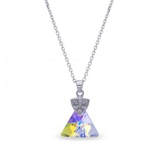 Naszyjnik srebrny Swarovski Ekskluzywna biżuteria Swarovski