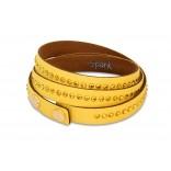 Piękna bransoletka Swarovski - żółta