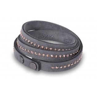 Oryginalna biżuteria Swarovski - bransoletka Swarovski szara