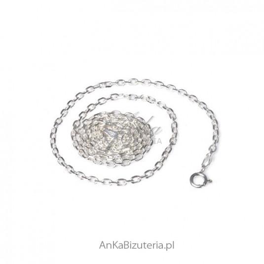 ed123168b9fed4 Łańcuszek srebrny Anker diamentowany 0,25 - Delikatny łańcuszek do zawieszek