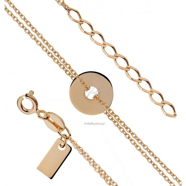 Biżuteria Celebrytek - bransoletka z kółkiem