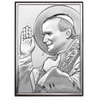 Obrazek srebrny Święty Jan Paweł II NOWOŚĆ!