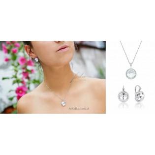 Komplet biżuterii Swarovski Biżuteria srebrna
