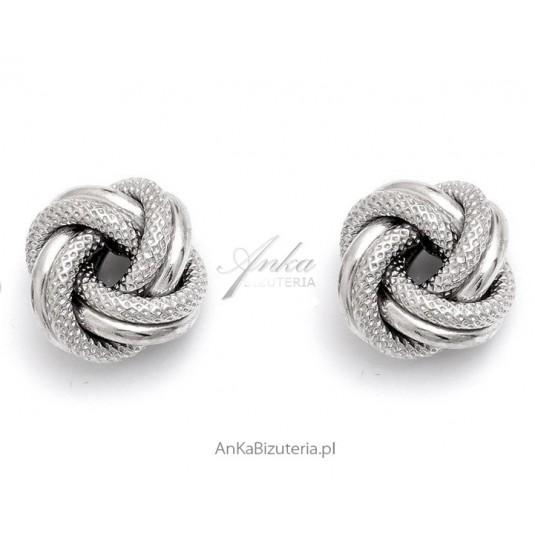 1240ec57ce567d Kolczyki srebrne supełki Biżuteria włoska