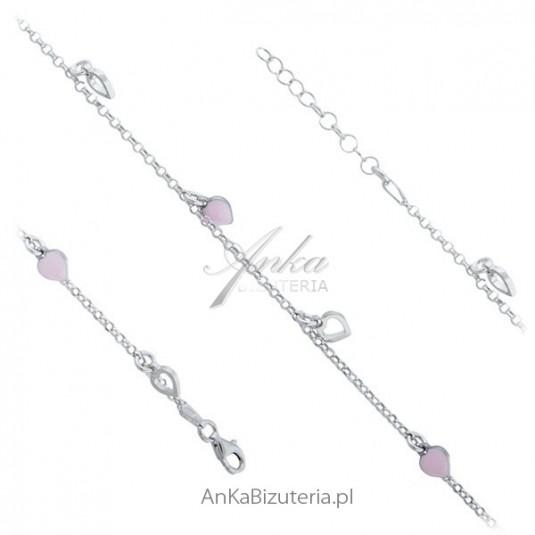 Srebrne bransoletka z przywieszkami Modna biżuteria