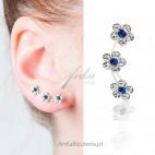 HIT! Najmodniejsze potrójne kolczyki srebrne przylegające do ucha
