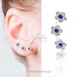 HIT! NAUSZNICE Najmodniejsze potrójne kolczyki srebrne przylegające do ucha