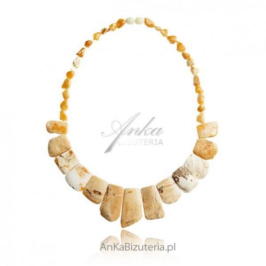 Naszyjnik z żółtego bursztynu Biżuteria z naturalnych bursztynów