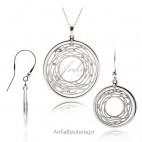 Komplet biżuterii srebrnej Modna biżuteria na Prezent