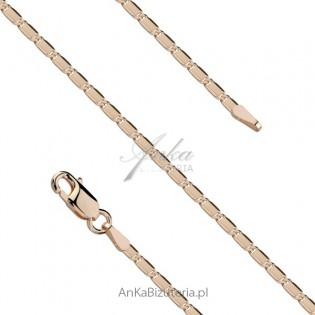 Łańcuszek srebrny pozłacany. Biżuteria włoska