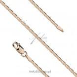 Łańcuszek srebrny pozłacany. Biżuteria włoska 45 cm