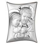 Srebrna Pamiątka-Święta Rodzina - srebrny obrazek z certyfikatem GRAWER GRATIS